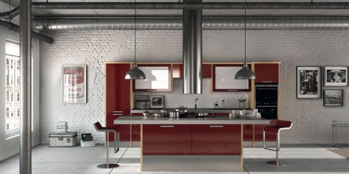 Duleek Gloss Burgundy Kitchen