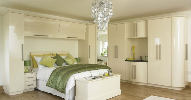 Duleek Gloss Cream Bedroom