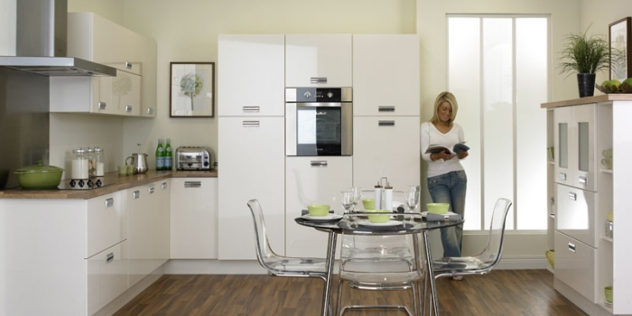 Duleek Gloss Ivory Kitchen