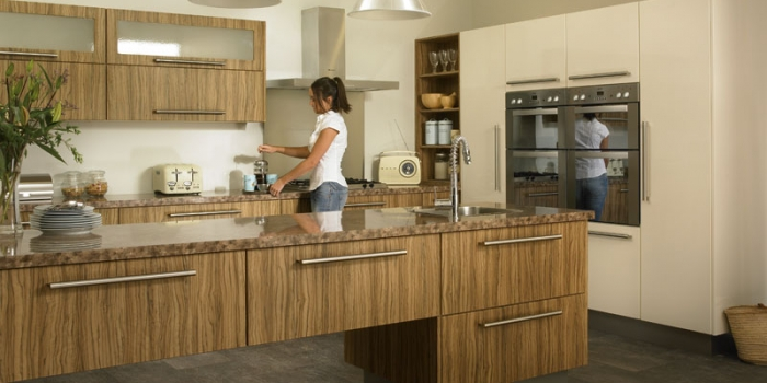 Duleek Olivewood and Cream High Gloss Kitchen