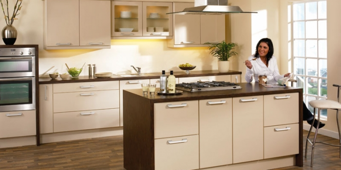 Duleek Sand Beige High Gloss Kitchen