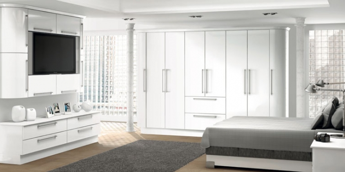 Duleek White Gloss Bedroom