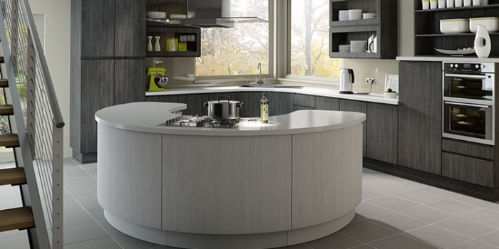 Gallo Avola Grey and Avola White Kitchen