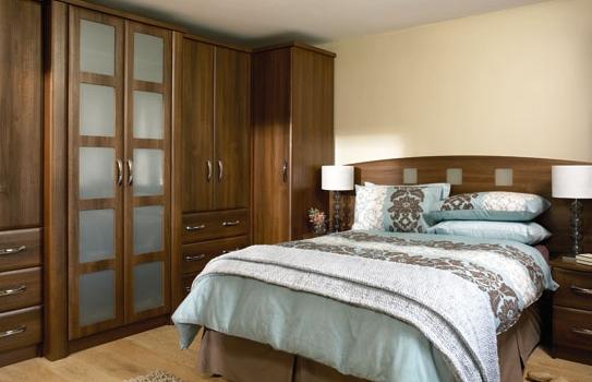 Slab Dark Walnut Bedroom