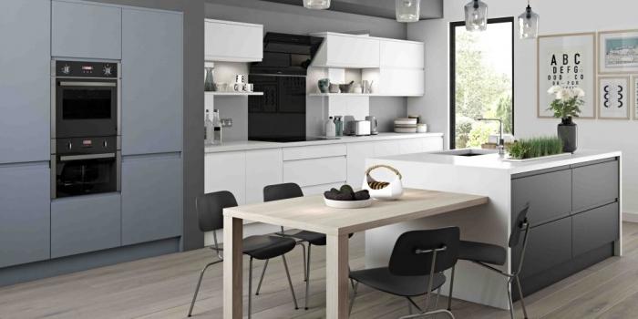 Arena Kitchen – Denim, White and Graphite