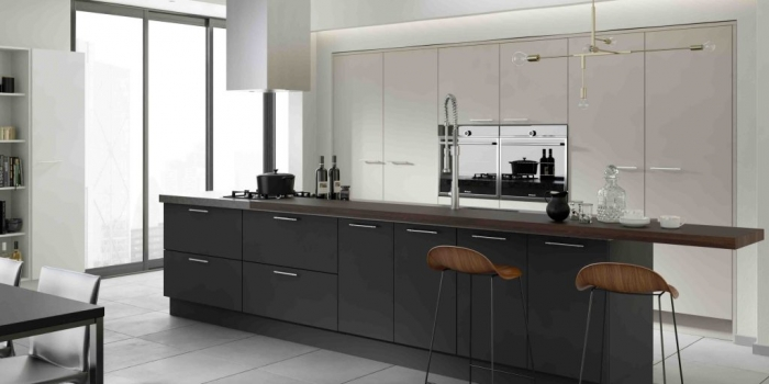 Belair Kitchen – Graphite, Mussel and White