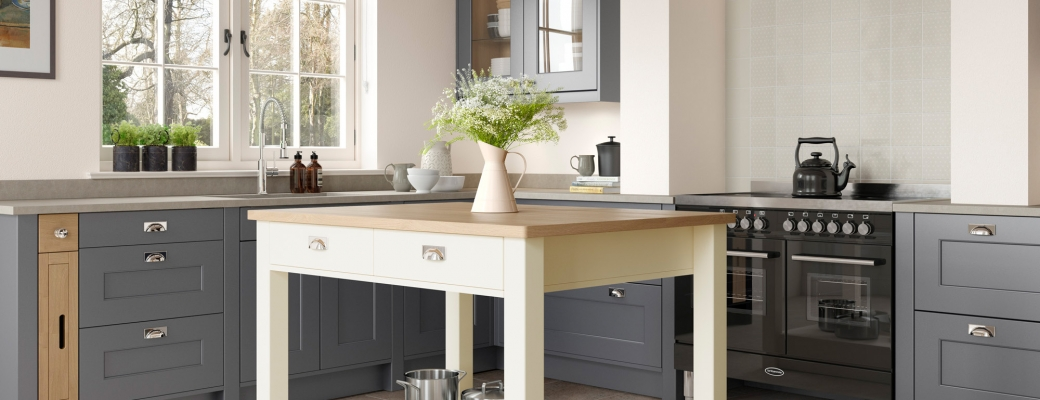Florence Kitchen – Dust Grey & Porcelain