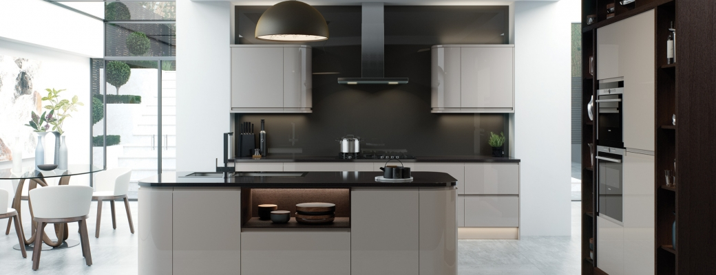Strada Gloss Kitchen – Cashmere