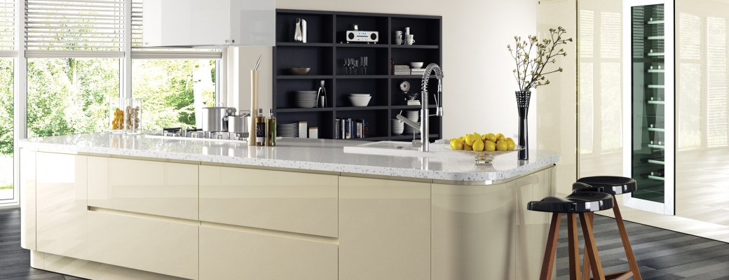 Strada Gloss Kitchen – Ivory