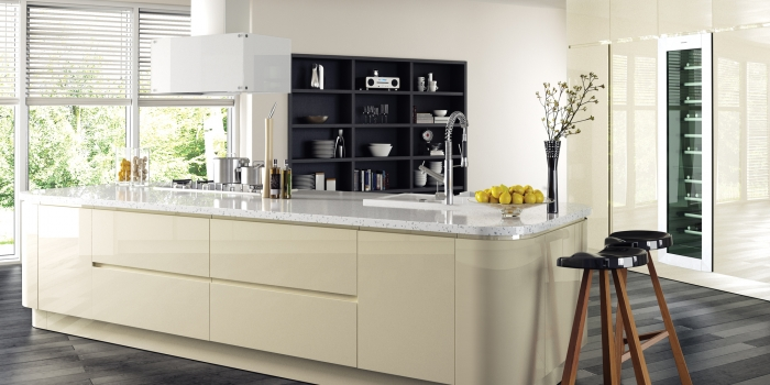 Strada Gloss Kitchen – Ivory
