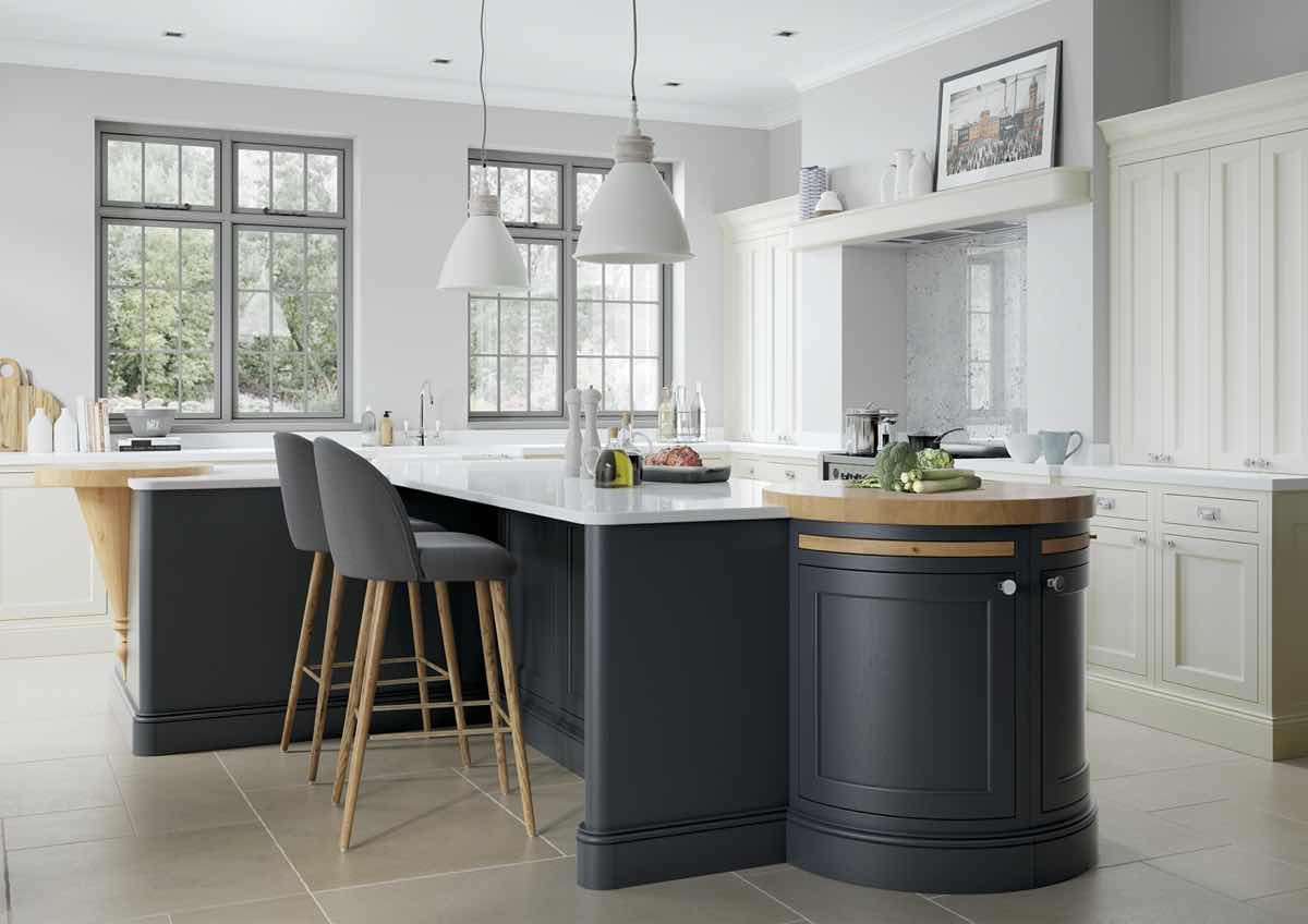 Belgravia Porcelain and Slate Blue Kitchen