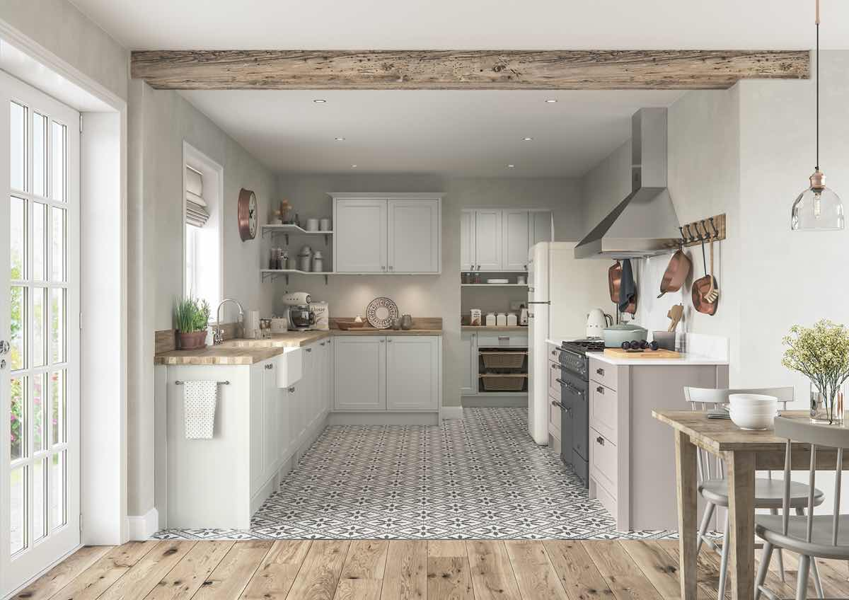 Dawson Porcelain and Cashmere Kitchen