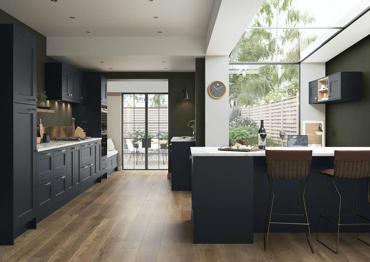Florence Slate Blue Kitchen