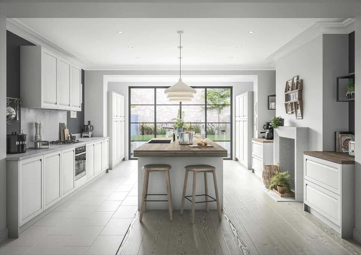 Harborne Light Grey Kitchen