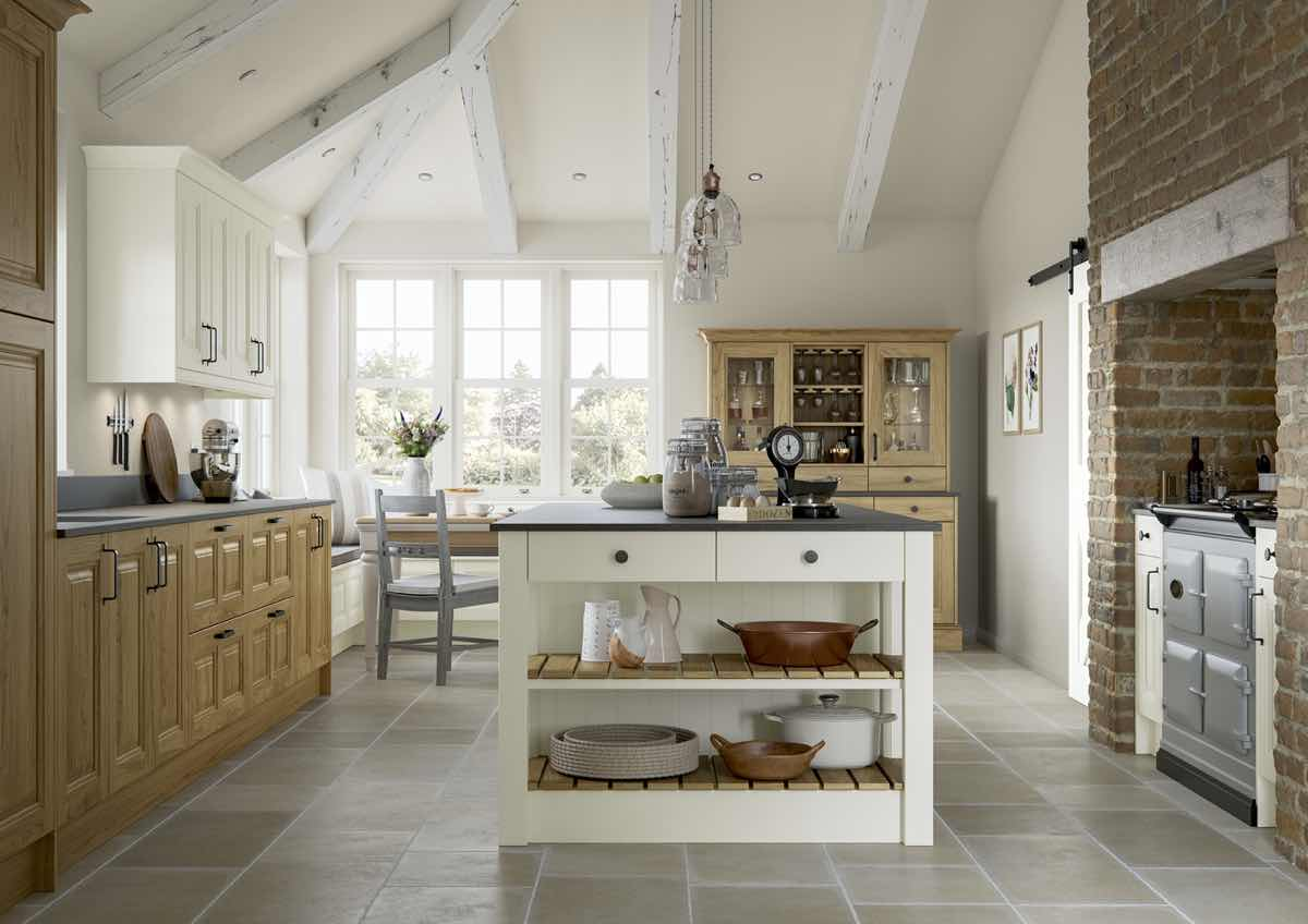 Jefferson Light Oak and Ivory Kitchen