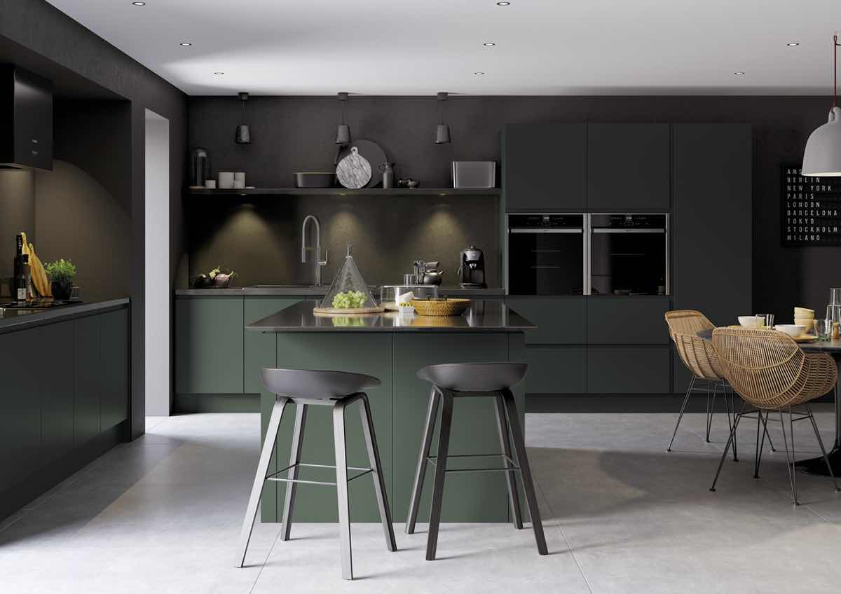 Strada Matte Deep Forest Kitchen