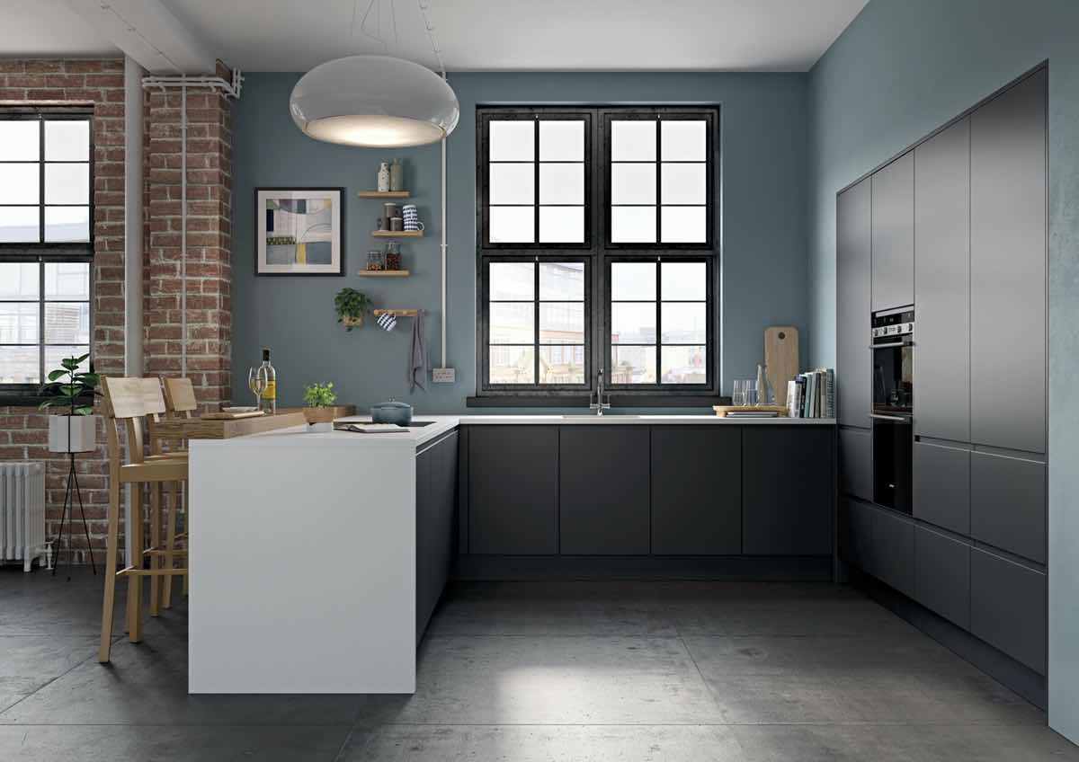 Strada Matte Graphite Kitchen