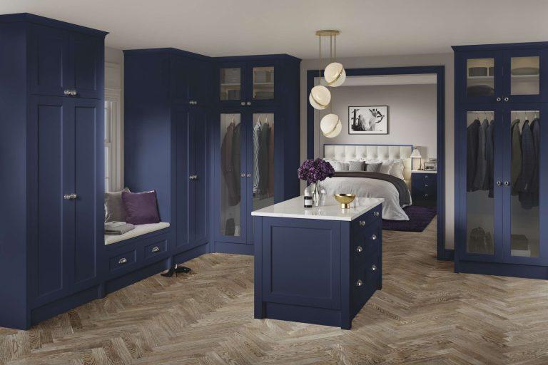 5 Piece Bastille Legno Marine Blue Bedroom
