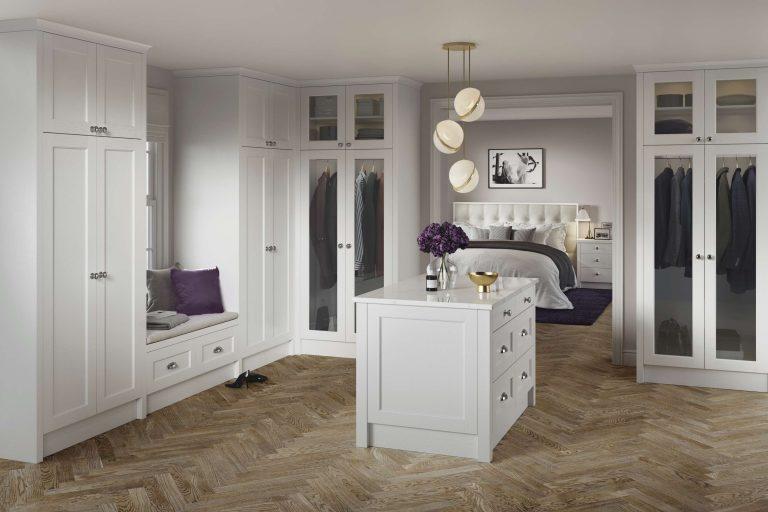 5 Piece Bastille Legno White Grey Bedroom