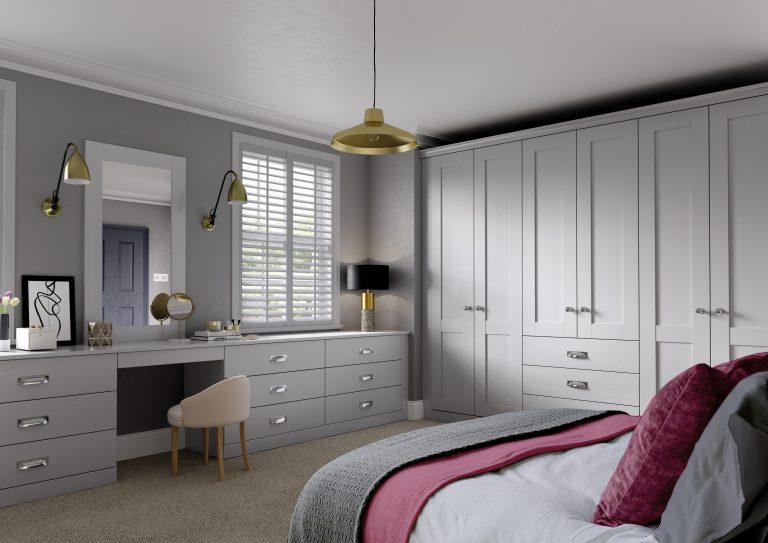 5 Piece S2 Fenwick Legno Light Grey Bedroom