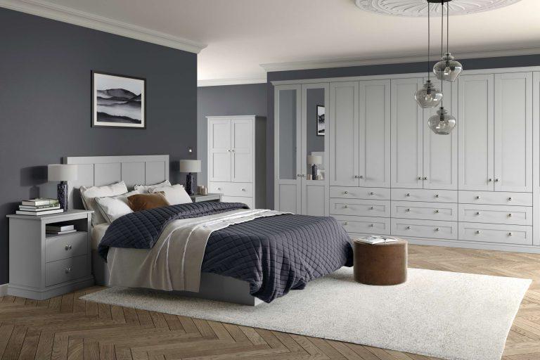 5 Piece Loxley Serica Light Grey Bedroom