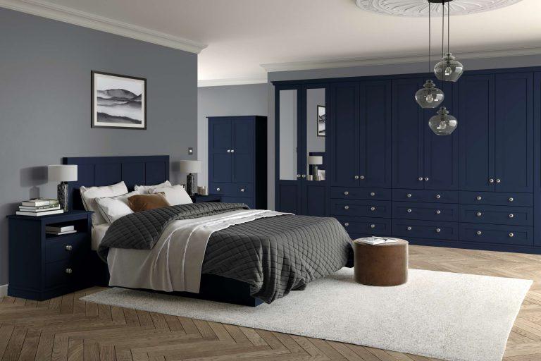 5 Piece Loxley Serica Marine Blue Bedroom