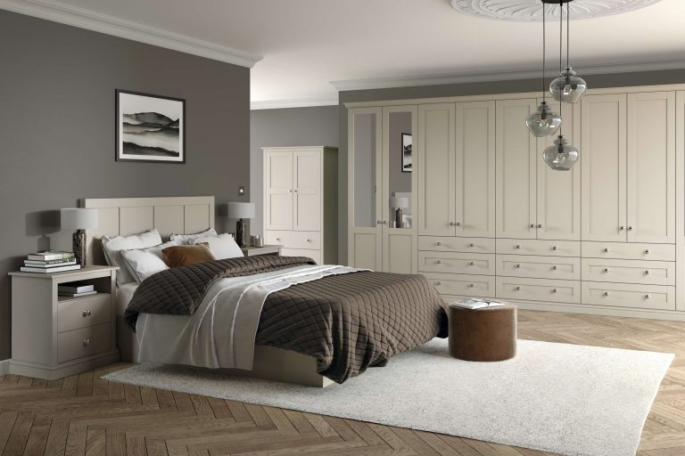 5 Piece Loxley Serica Taupe Grey Bedroom