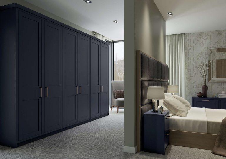 Morris S1 Marine Blue Bedroom