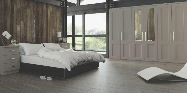 Warsaw S1 Legano Stone Grey Bedroom