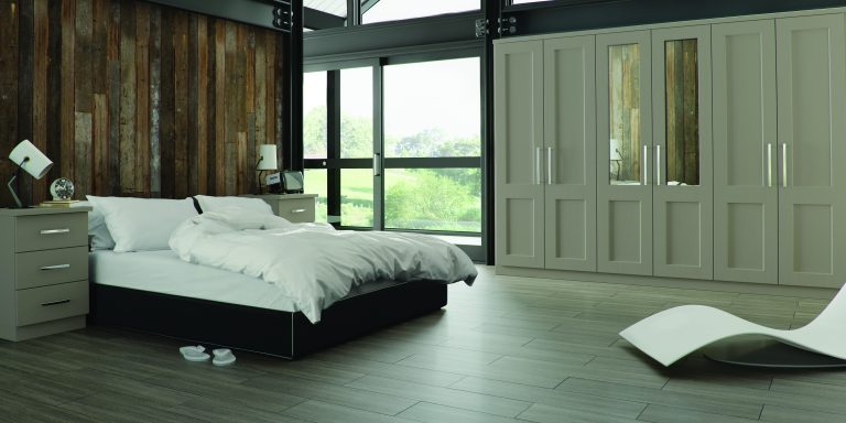 Warsaw S1 Legno Stone Grey Bedroom