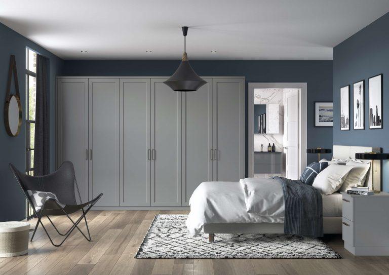 Woking S1 1 Panel Serica Dust Grey Bedroom