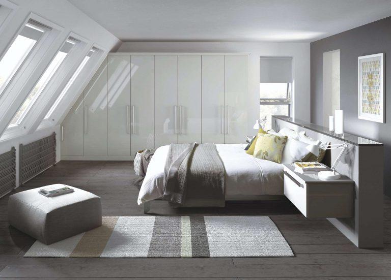 Edged Phoenix S1 Gloss White Bedroom