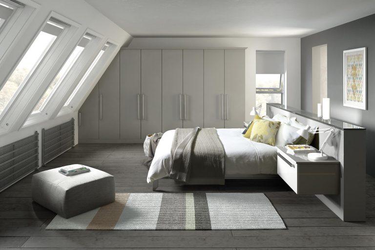 Edged Phoenix S1 Light Grey Bedroom