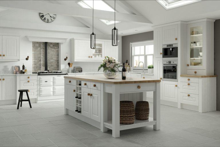 5 Piece Fenwick Legno White Kitchen