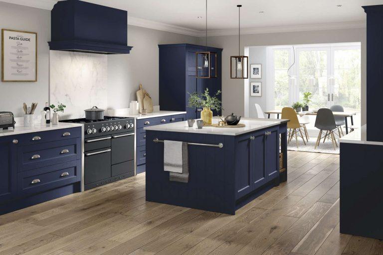 5 Piece Bastille Marine Blue Kitchen