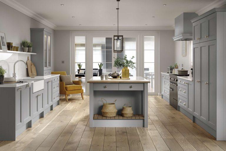 5 Piece Bastille Light Grey Kitchen