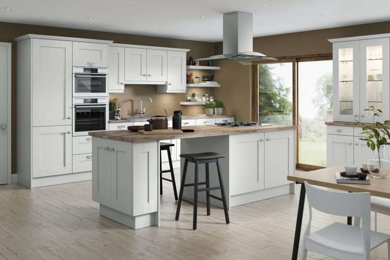 5 Piece Fenwick S1 Legno White Kitchen