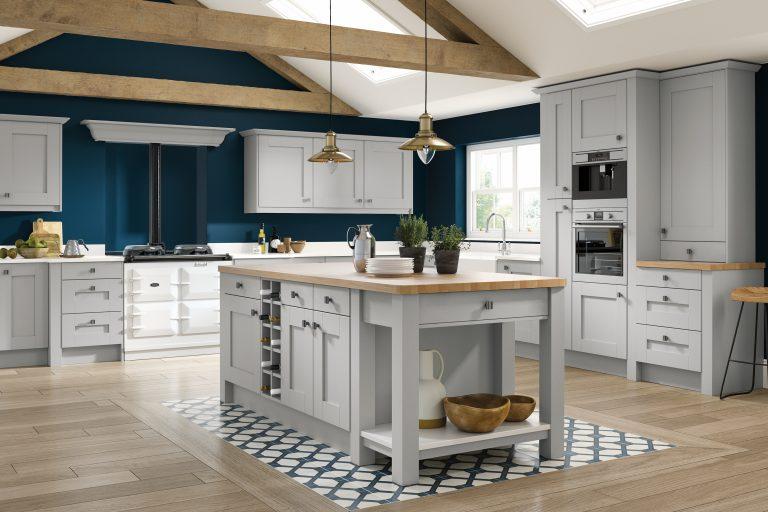 5 Piece Fenwick Legno Light Grey Kitchen