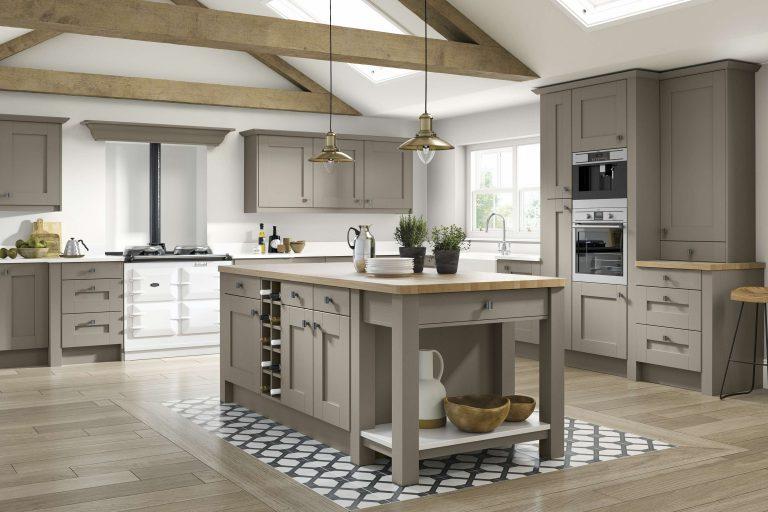 5 Piece Fenwick S2 Legno Stone Grey Kitchen