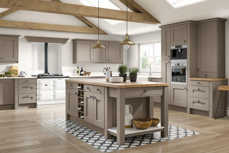 5 Piece Fenwick Legno Stone Grey Kitchen