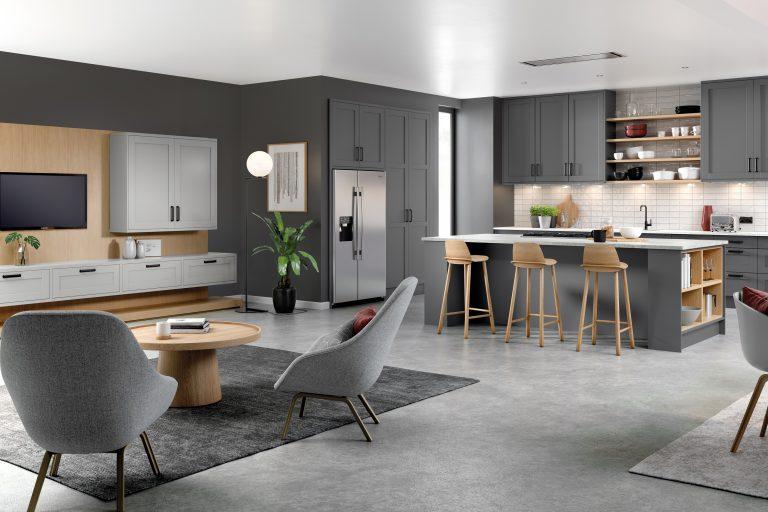 5 Piece Loxley Serica Dust Grey & Light Grey Kitchen