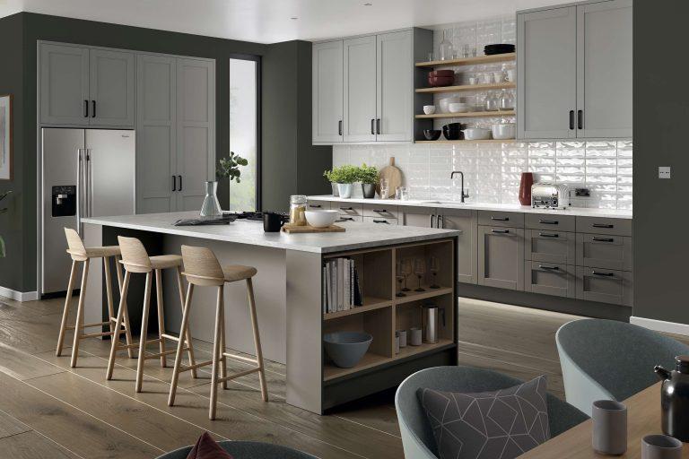 5 Piece Loxley Serica Light Grey & Serica Stone Grey Kitchen
