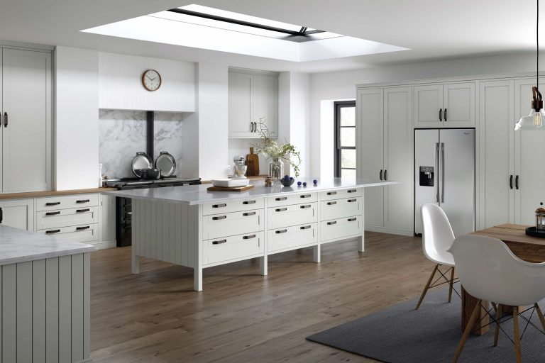 5 Piece Loxley Serica White Grey Kitchen