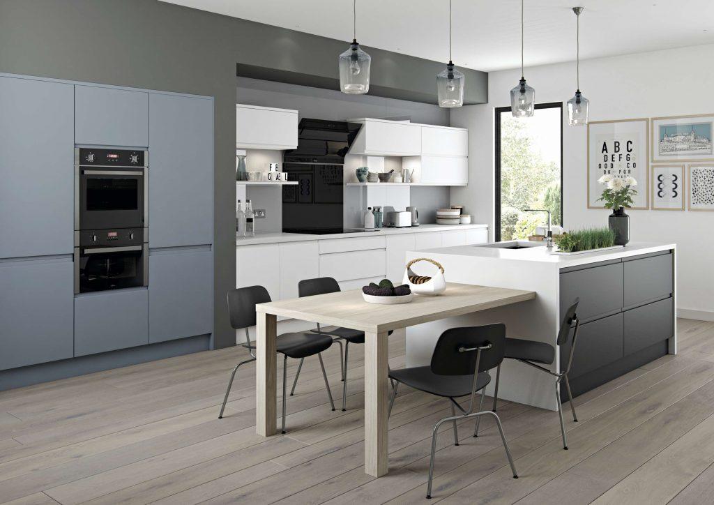 Arena S2 Painted Denim White Graphite Kitchen