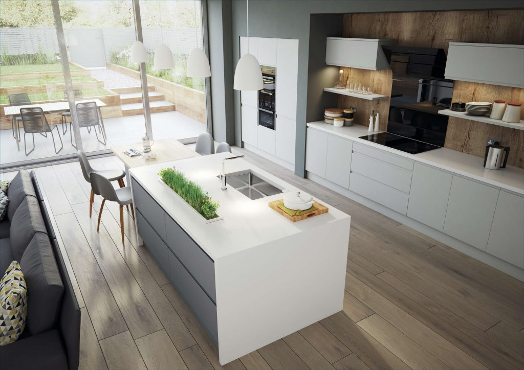 Arena S2 Painted Light Grey / Dust Grey Kitchen